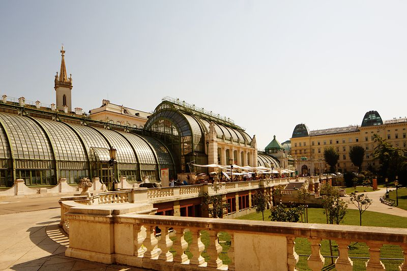 View of the Palm House in the Burggarten, Vienna
