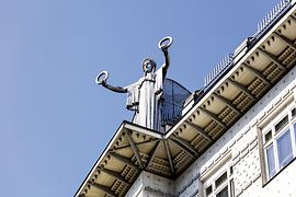 Vienna, Art Nouveau: Post Savings Bank, angel on the roof