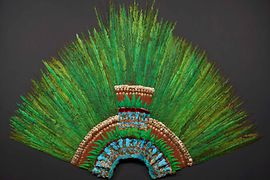 Ancient Mexican feather headdress