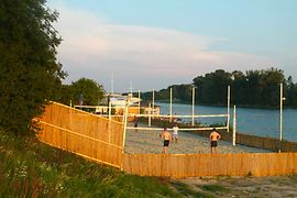 Beach volleyball at the Vienna City Beach Club