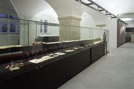 View of the permanent exhibition of the Archives of the Austrian Resistance in the Old City Hall