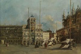 Francesco Guardi, St. Mark's Square in Venice with the Clock Tower