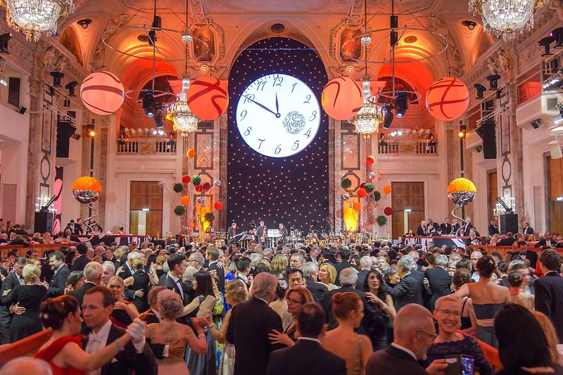 People dancing at the New Year's Eve Ball at the Hofburg Vienna (Imperial Palace)