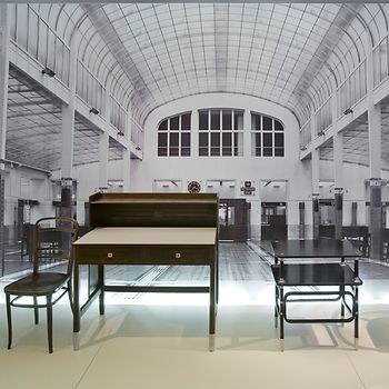 Furniture for the Vienna Post Savings Bank, designed by Otto Wagner, produced by the Thonet brothers, Vienna around 1904/06