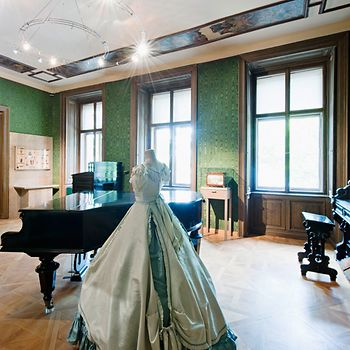 Apartment of Johann Strauss at Praterstrasse, green room