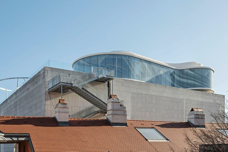 Roof terrace on the Leopold Museum in the MuseumsQuartier, Vienna