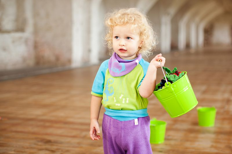 Child in colorful clothing