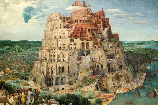 Pieter Bruegel the Elder: The Tower of Babel, 1563, Kunsthistorisches Museum Vienna