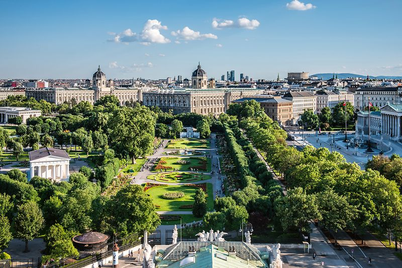 Volksgarten, Museum of Natural History and Kunsthistorisches Museum, and Parliament