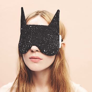 "Said the Fox, woman with ""Foxy Sleep Mask"""