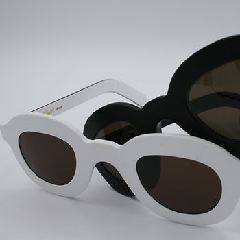 Schau Schau glasses, black and white sunglasses