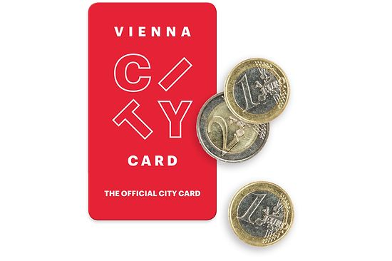 Vienna City Card. Illustration of a Vienna City Card and euro coins