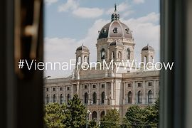 View from a window towards Kunsthistorisches Museum Vienna